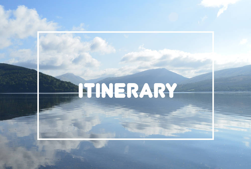 Itinerary planning in Loch Lomond and The Trossachs