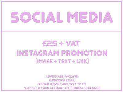 SOCIAL MEDIA PROMOTION - INSTAGRAM